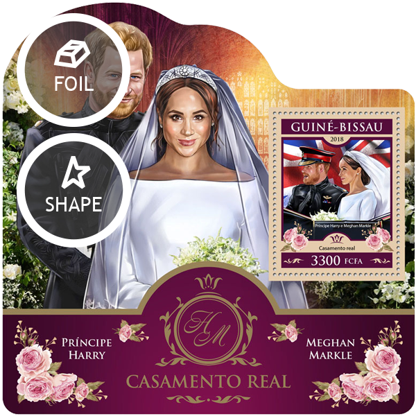 Wedding of Prince Harry and Meghan Markle - Issue of Guinée-Bissau postage stamps
