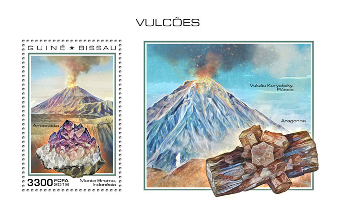 Volcanoes - Issue of Guinée-Bissau postage stamps