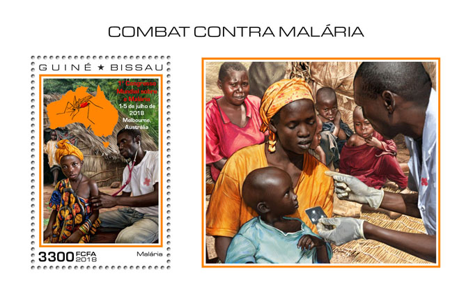 Fight against Malaria - Issue of Guinée-Bissau postage stamps