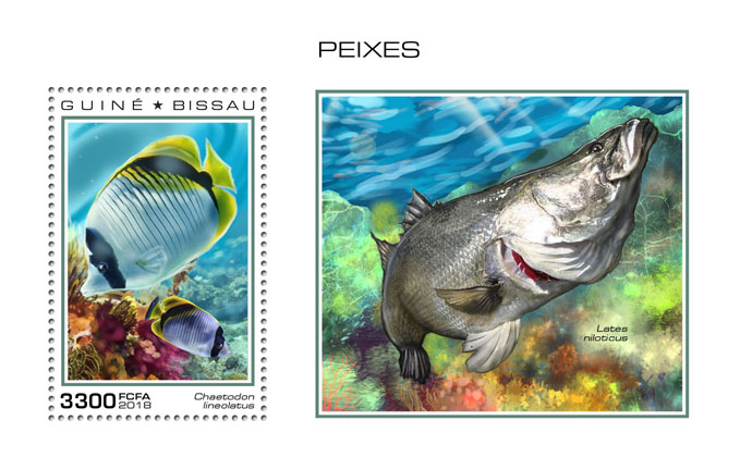 Fishes - Issue of Guinée-Bissau postage stamps
