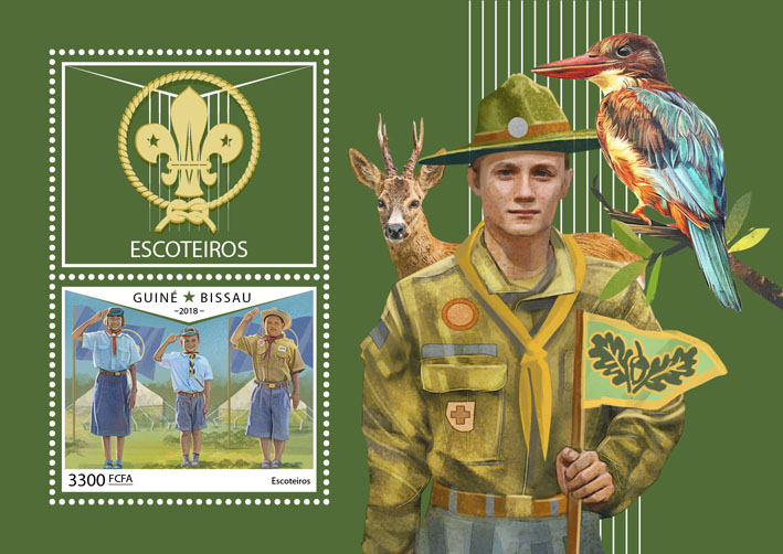 Scouts - Issue of Guinée-Bissau postage stamps