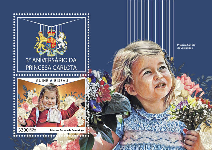 Princess Charlotte - Issue of Guinée-Bissau postage stamps
