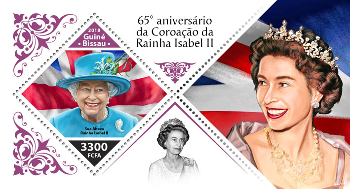 Queen Elizabeth II - Issue of Guinée-Bissau postage stamps