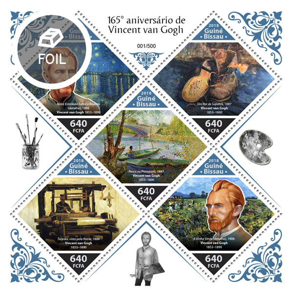 Vincent van Gogh - Issue of Guinée-Bissau postage stamps