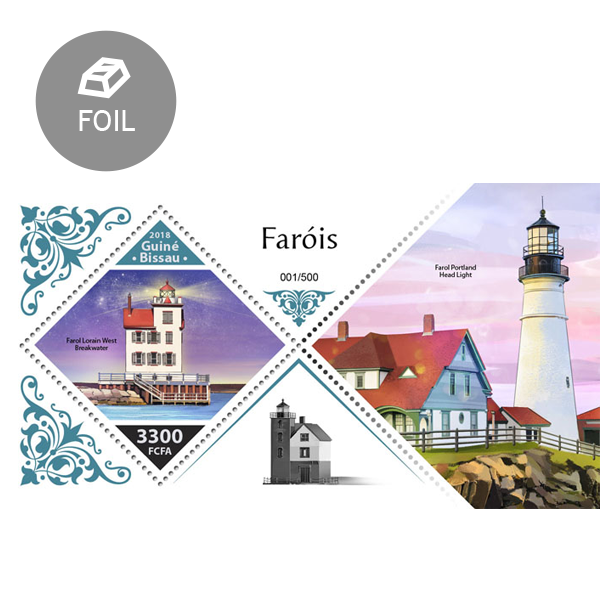 Lighthouses - Issue of Guinée-Bissau postage stamps