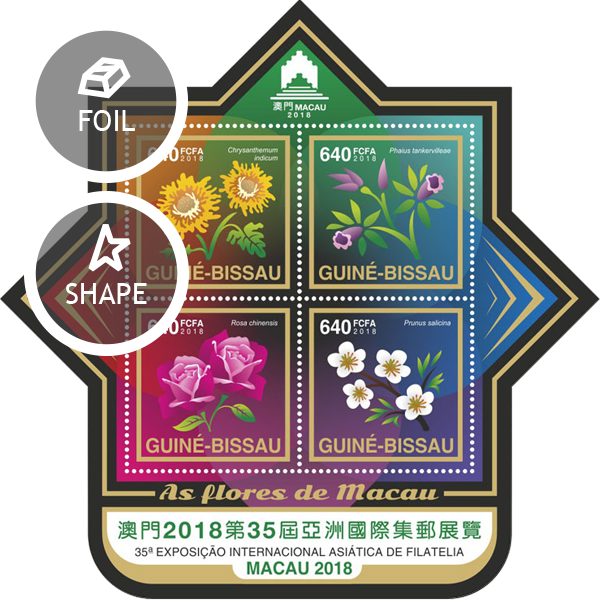 Stamp Exhibition – Macao 2018 - Issue of Guinée-Bissau postage stamps