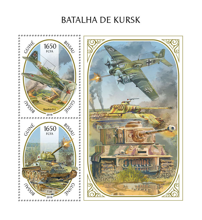 Battle of Kursk - Issue of Guinée-Bissau postage stamps