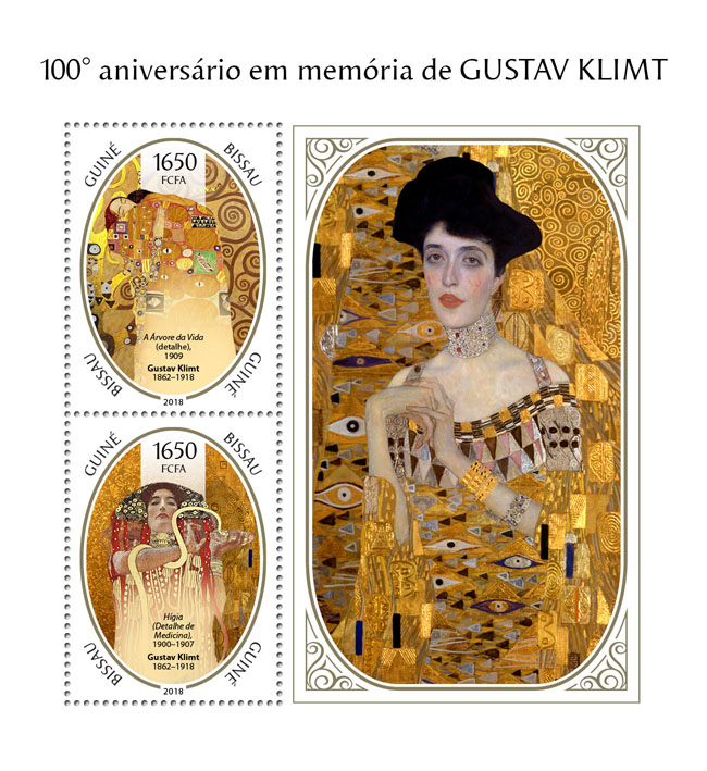Gustav Klimt - Issue of Guinée-Bissau postage stamps