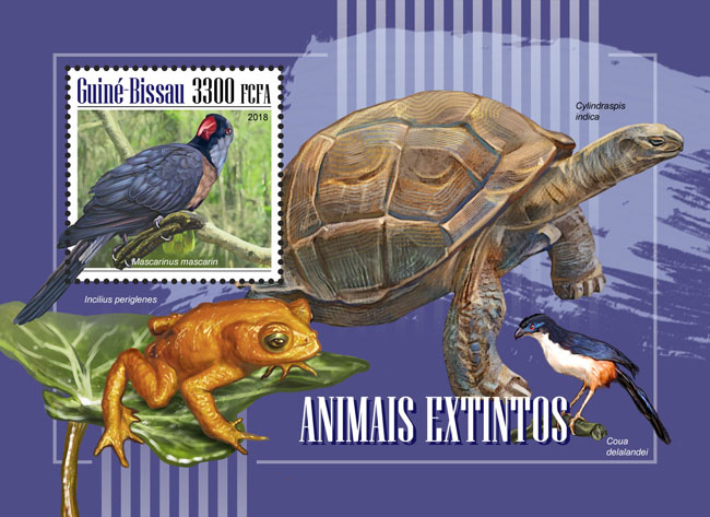 Extinct species - Issue of Guinée-Bissau postage stamps