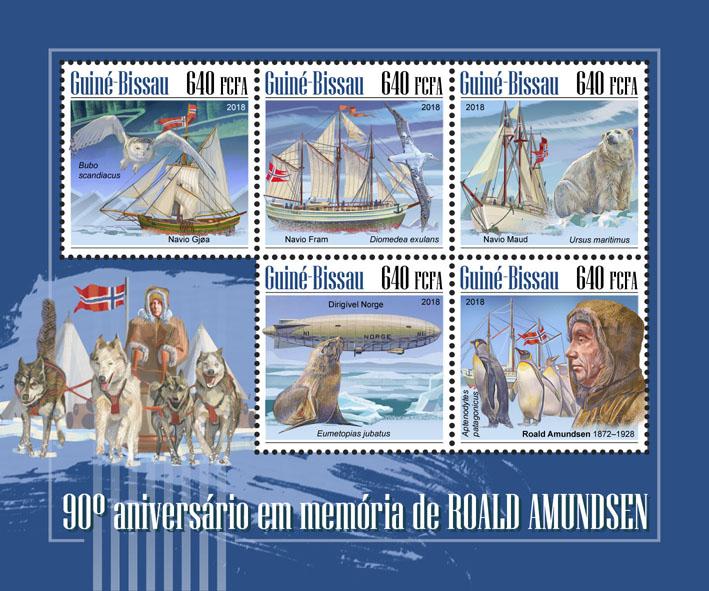 Roald Amundsen - Issue of Guinée-Bissau postage stamps