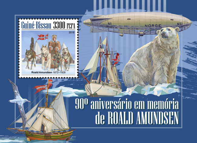 Roald Amundsen - Issue of Guinée-Bissau postage stamps