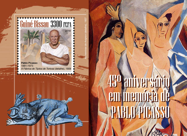 Pablo Picasso - Issue of Guinée-Bissau postage stamps