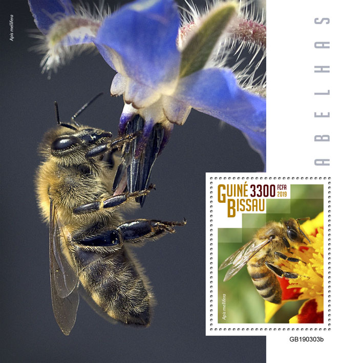 Bees - Issue of Guinée-Bissau postage stamps