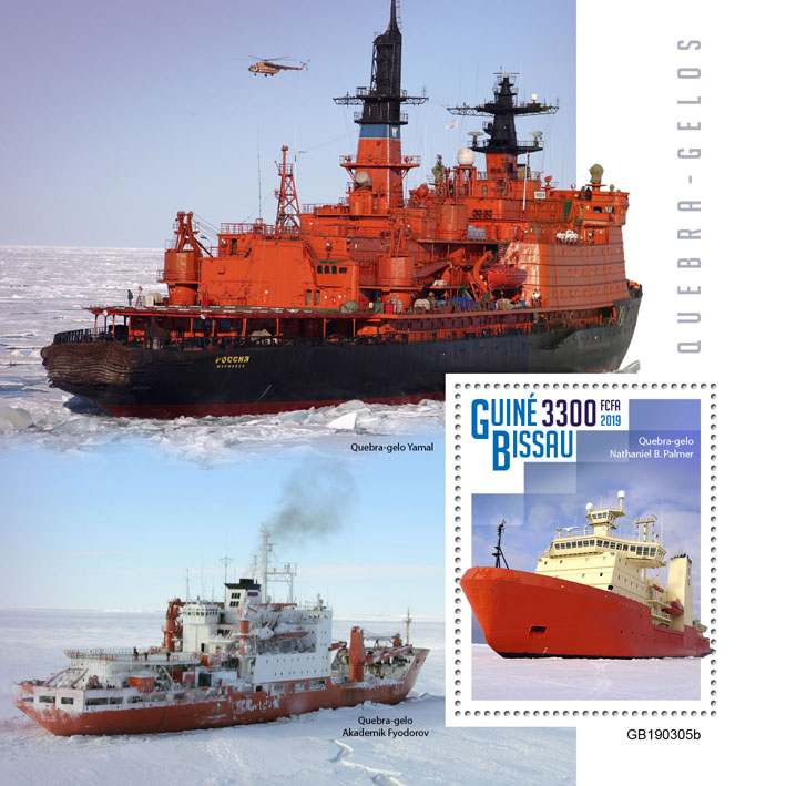 Icebreakers - Issue of Guinée-Bissau postage stamps