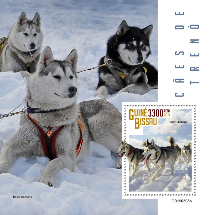 Sledge dogs - Issue of Guinée-Bissau postage stamps