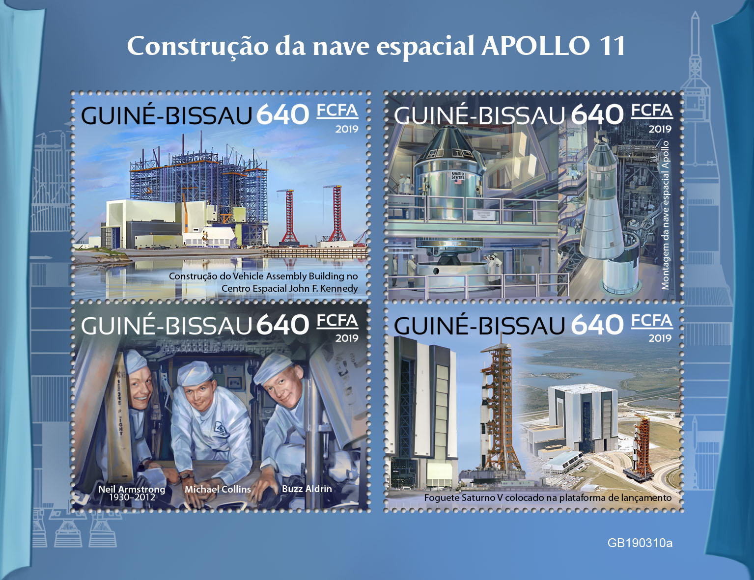 Apollo 11 - Issue of Guinée-Bissau postage stamps