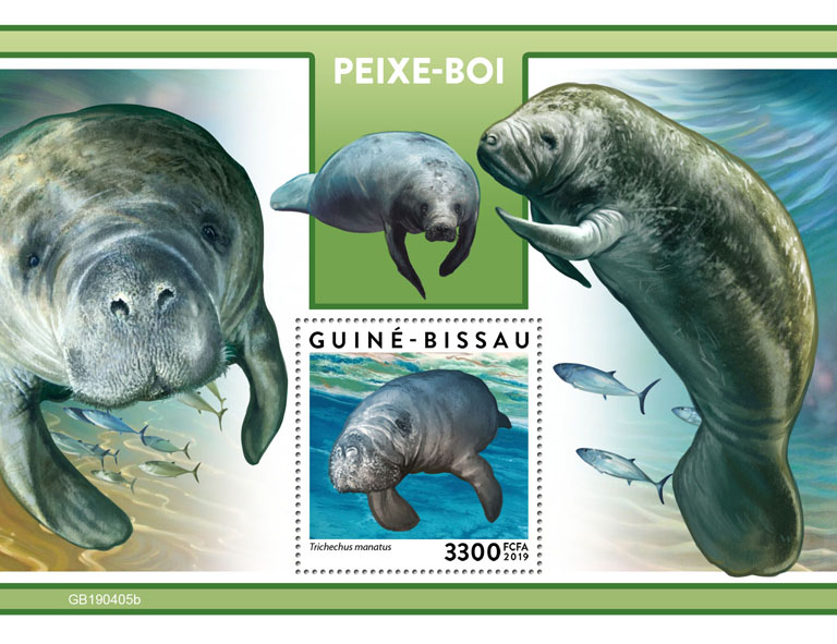 Manatee - Issue of Guinée-Bissau postage stamps