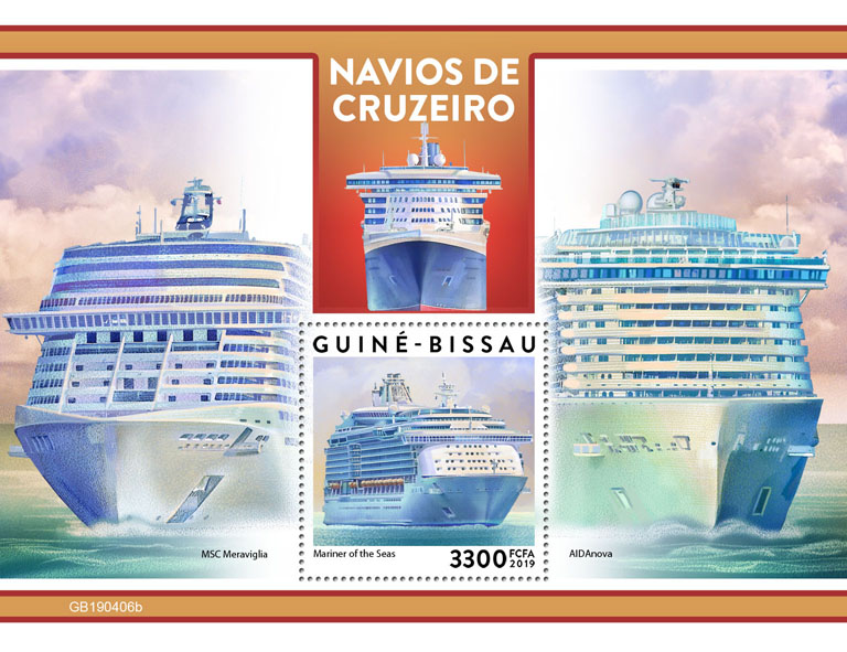 Cruise ships - Issue of Guinée-Bissau postage stamps
