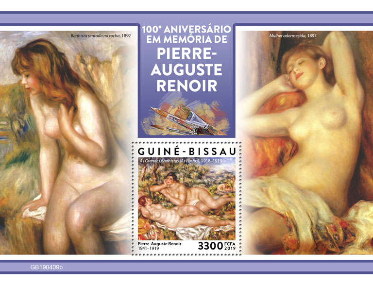 Pierre-Auguste Renoir - Issue of Guinée-Bissau postage stamps