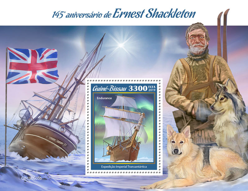 Ernest Shackleton - Issue of Guinée-Bissau postage stamps