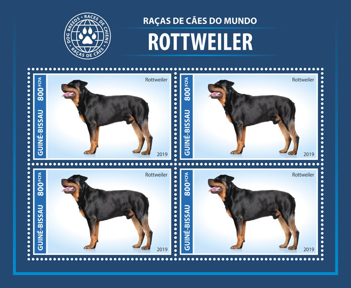 Dog - Issue of Guinée-Bissau postage stamps