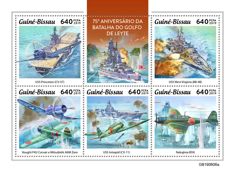 Battle of Leyte Gulf - Issue of Guinée-Bissau postage stamps