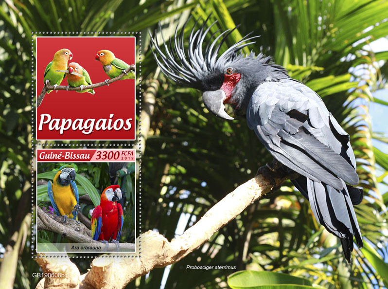 Parrots - Issue of Guinée-Bissau postage stamps