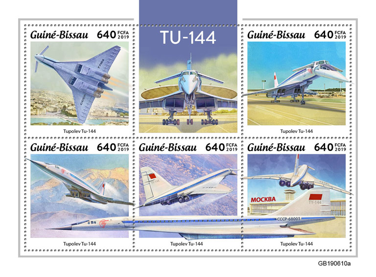 TU-144 - Issue of Guinée-Bissau postage stamps