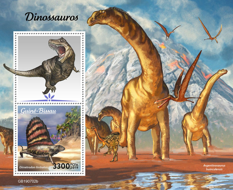 Dinosaurs - Issue of Guinée-Bissau postage stamps