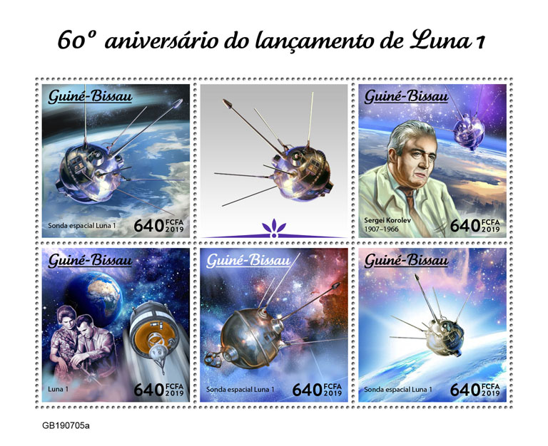 Luna 1 - Issue of Guinée-Bissau postage stamps
