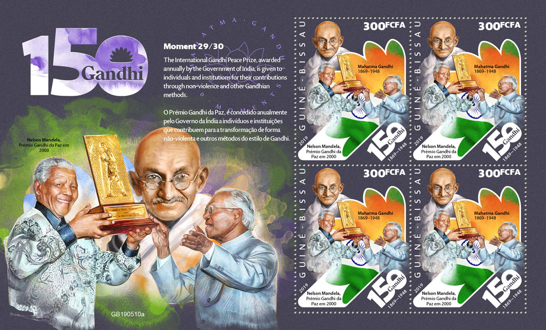 Mahatma Gandhi moments - Issue of Guinée-Bissau postage stamps