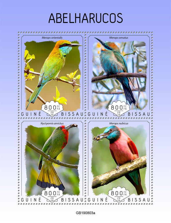 Bee eaters - Issue of Guinée-Bissau postage stamps