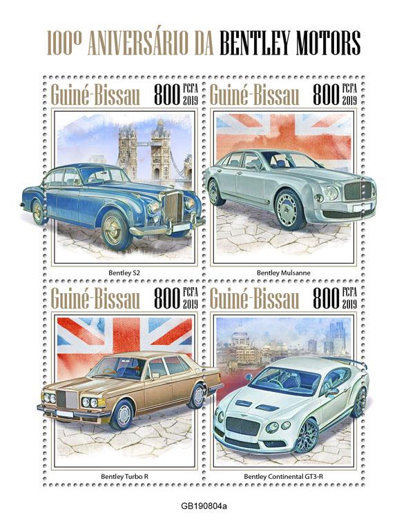 Bentley Motors - Issue of Guinée-Bissau postage stamps