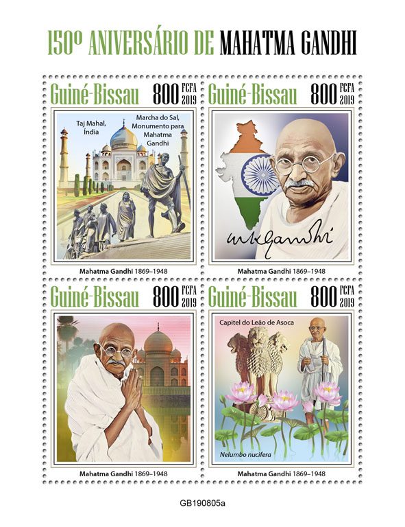 Mahatma Gandhi - Issue of Guinée-Bissau postage stamps