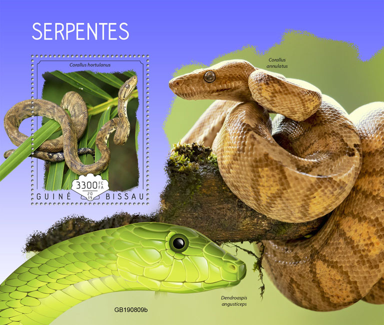 Snakes - Issue of Guinée-Bissau postage stamps