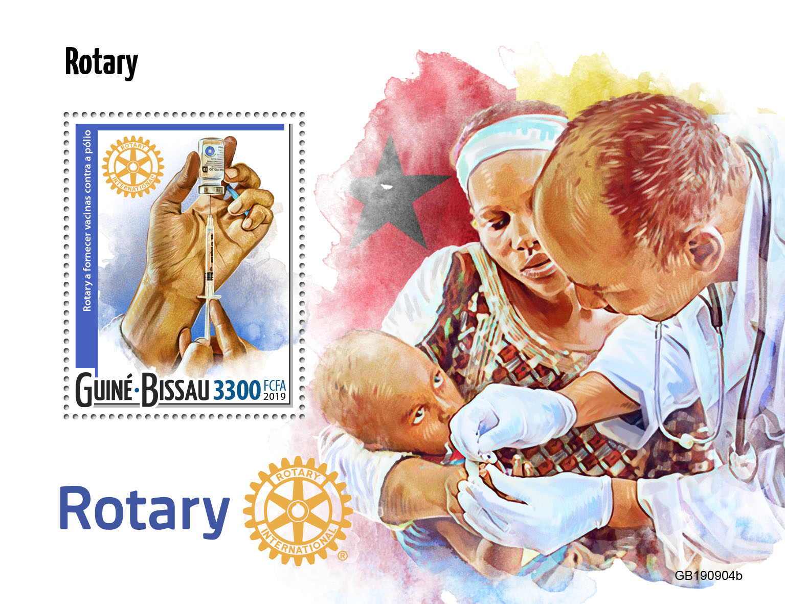 Rotary - Issue of Guinée-Bissau postage stamps