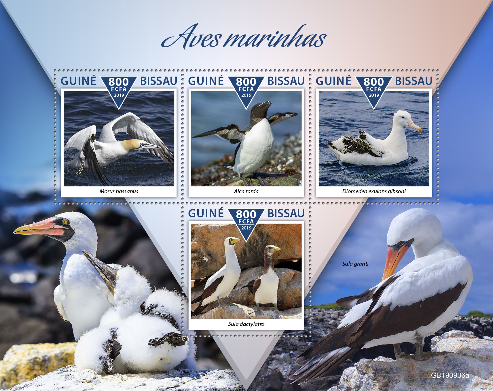 Sea birds - Issue of Guinée-Bissau postage stamps